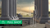 Ancient Greek Columns Scenery - Virtual Set