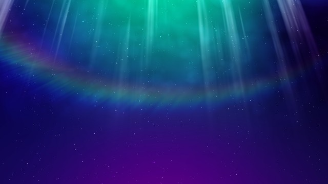 Aurora background with light rays and particles
