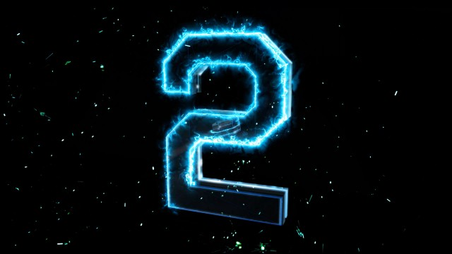 Blue electric 3D Numbers Countdown with energy sparks.