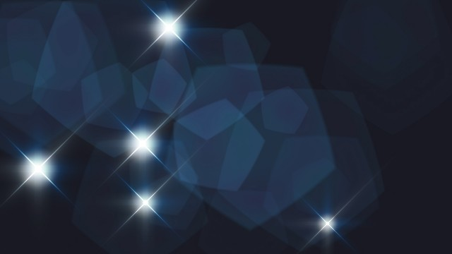 Camera Flashes looping continuously with flares. Blue Version