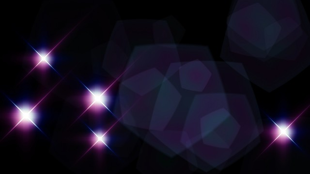 Camera Flashes looping continuously with flares. Purple Version