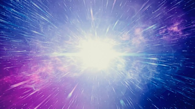 Big Bang. The creation of the Universe. Supernova in Space