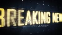 Breaking News Sign on Digital LED Screen