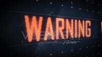 Aviso de precaución en pantalla led