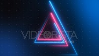 Triangular Neon Streaks Techno Loop