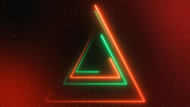 Animación de Luces Triangulares de color Rojo y Verde