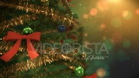 Christmas tree close up animation with beautiful ornaments