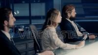 Professional Board of Executives and Clients Sitting at Corporate Meeting Room. Shot on ARRI ALEXA Mini UHD Cinema Camera.