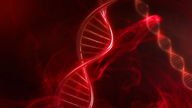 Red DNA Strand in Slow Motion