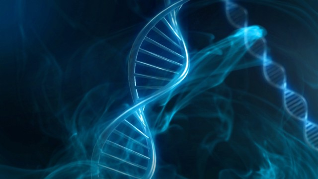 Blue DNA Strand in Slow Motion