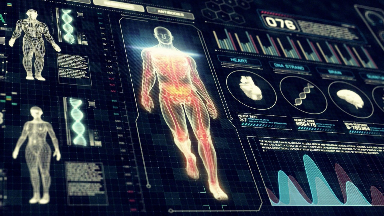 Full Body Anatomy Scan with Futuristic Touch Screen Diagnosis ...